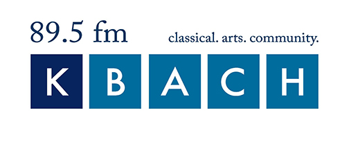 KBACH 89.5 logo. Classical. Arts. Community.