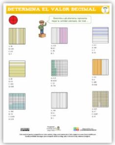 Determinar el valor decimal, visualmente