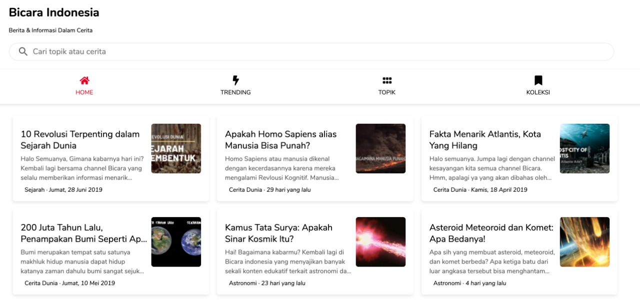 Website Bicara Indonesia