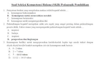 Soal SKB CPNS Keguruan GURU Kelas