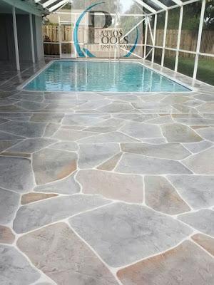 #decorativeconcrete #decorativeoverlay #pooldeck #concrete