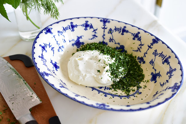 Labneh with herbs