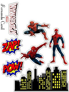 Spiderman Movie Free Printable Cake Toppers.