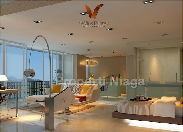 View-Bedroom-Type-D-(84m2)-Devins-Puncak-Hotel-And-Condominium