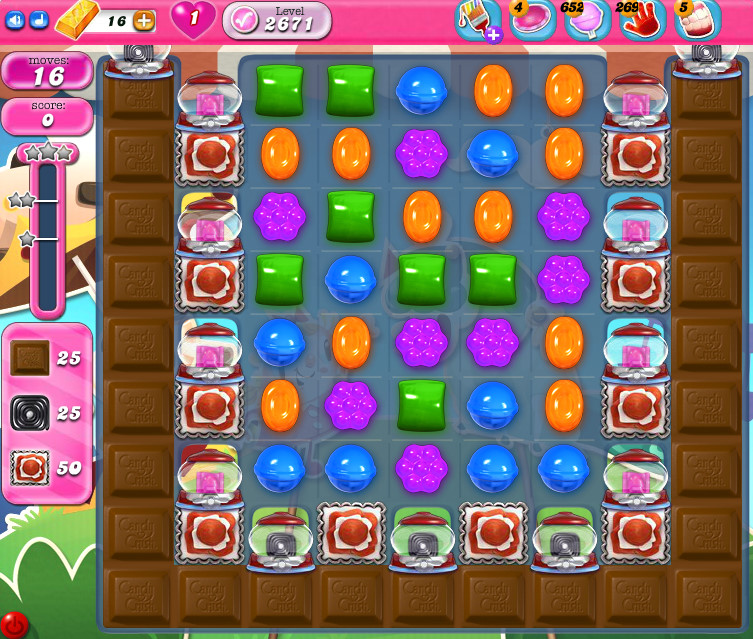Candy Crush Saga level 2671