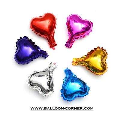 Balon Foil Hati Super Mini Polos / Foil Love Super Mini Polos