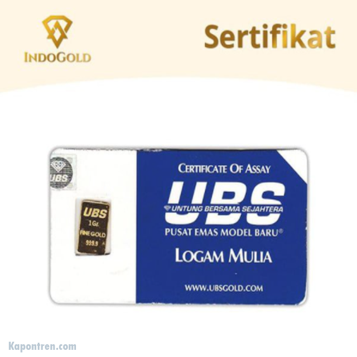 UBS 1 Gram Logam Mulia