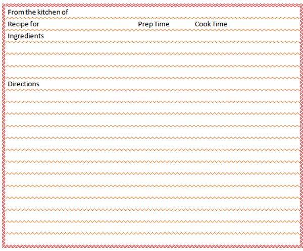 Recipe Templates recipe book template has made a recipe book as – Free Recipe Card Templates for Microsoft Word