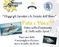 Logo Stelle nello Sport: vota e vinci gratis 4 crociere Costa