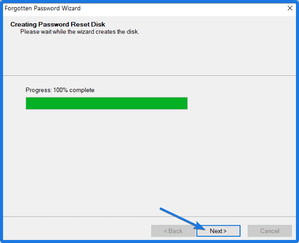Creating Windows 10 Reset Disk