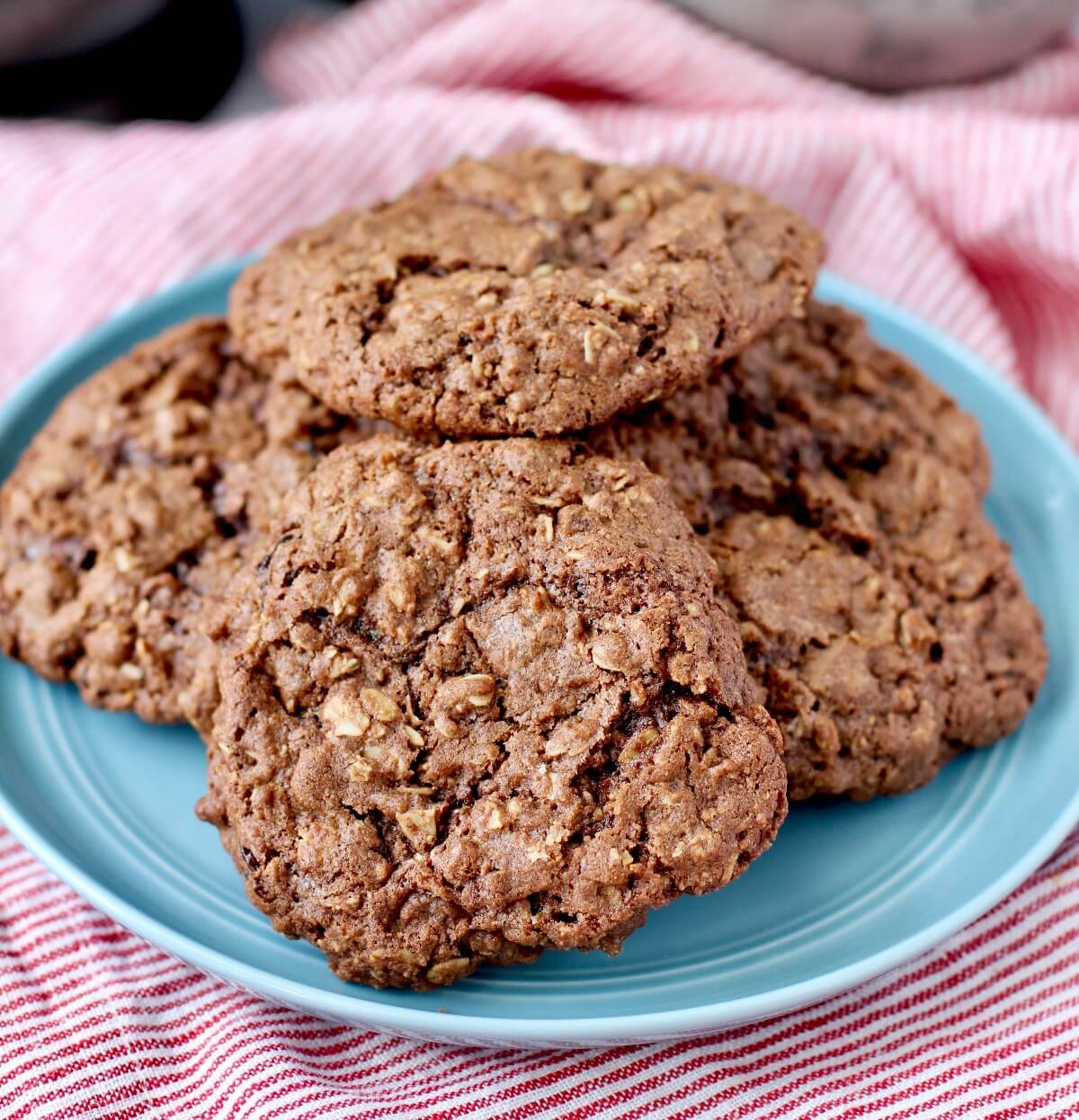 Chocolate and dried Cherry Oatmeal Cookies