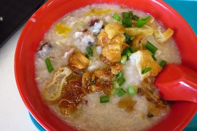 Johor Road Boon Kee Pork Porridge, pork cuttlefish porridge