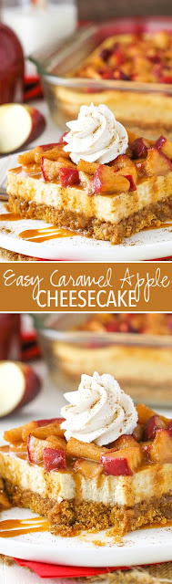 Easy Caramel Apple Cheesecake