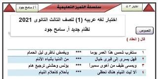 6 إختبارات بصيغه Pdf لغة عربية ثانوية عامة نظام جديد