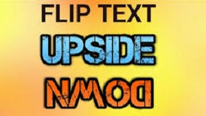 Upside Down / Flip Text