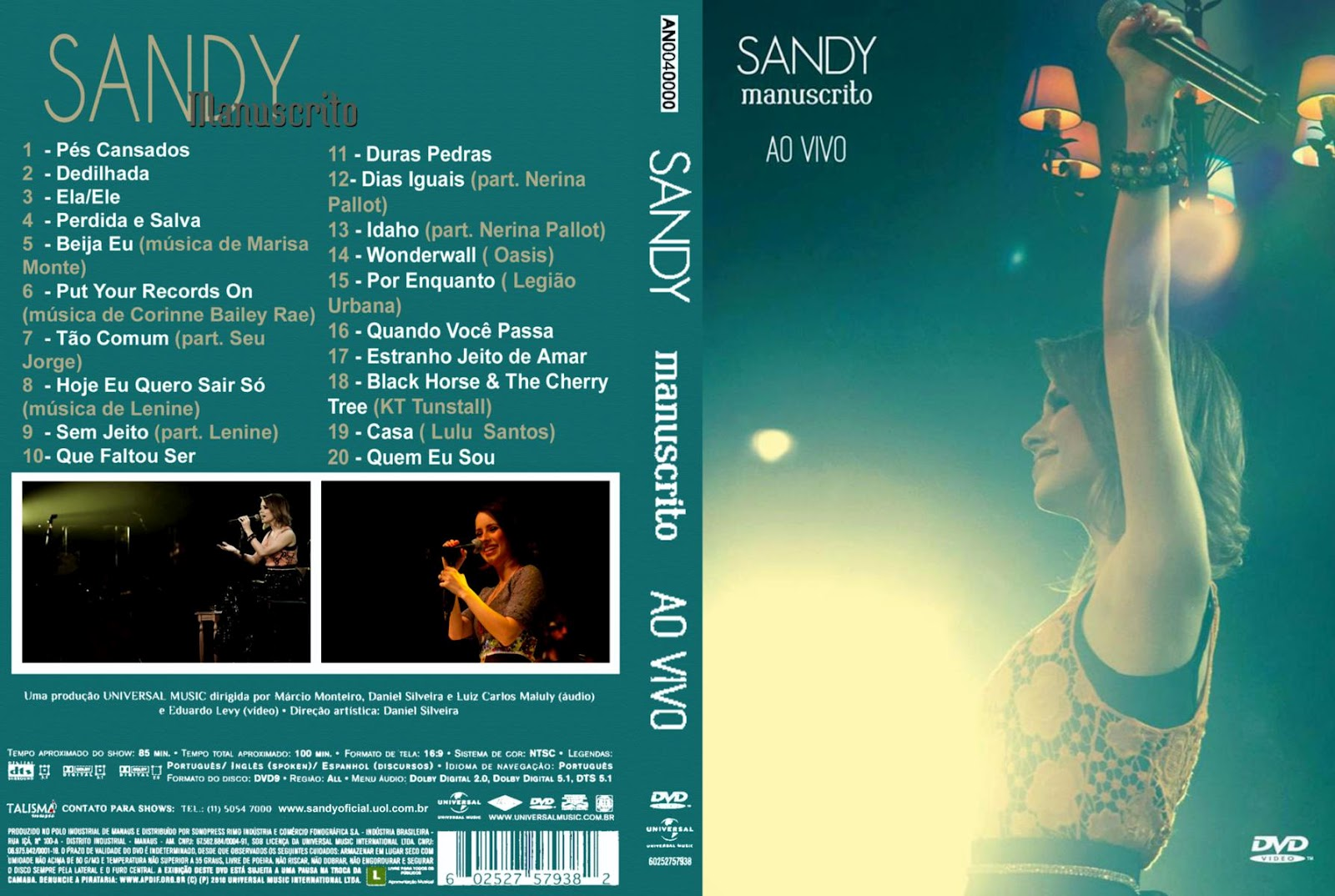 dvd sandy manuscrito