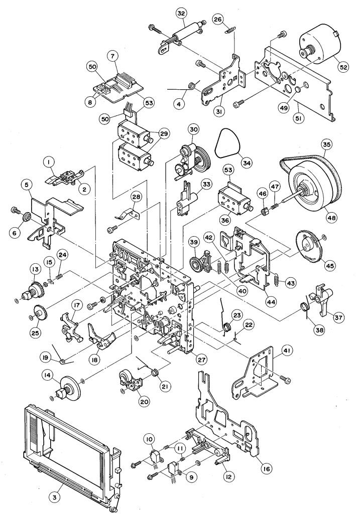 Schematic Diagrams: The Harman Kardon CD91 Circuit diagram