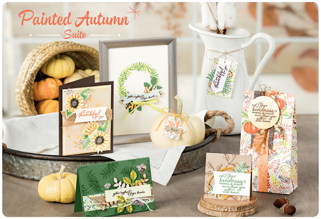 Make gorgeous greetings cards with the Painted Autumn Suite from Stampin' Up!