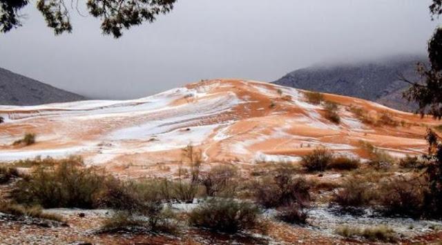 Gurun Sahara, Paling Panas di Dunia, Ada Tumpukan Salju Disana. Tanda Apa?