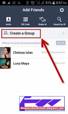 cara membuat grup di line android