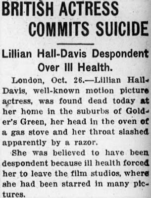 Lillian Hall-Davis Suicide