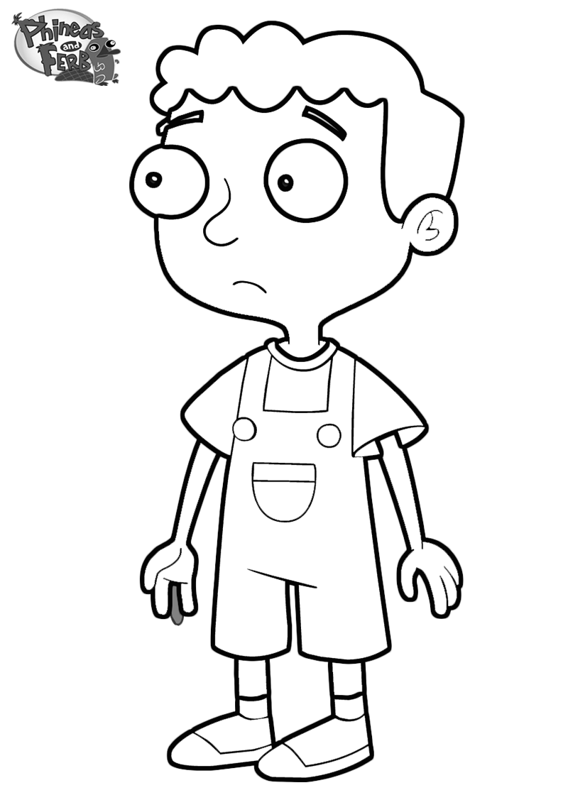 coloring pages of phineas and ferb characters - november 2013
