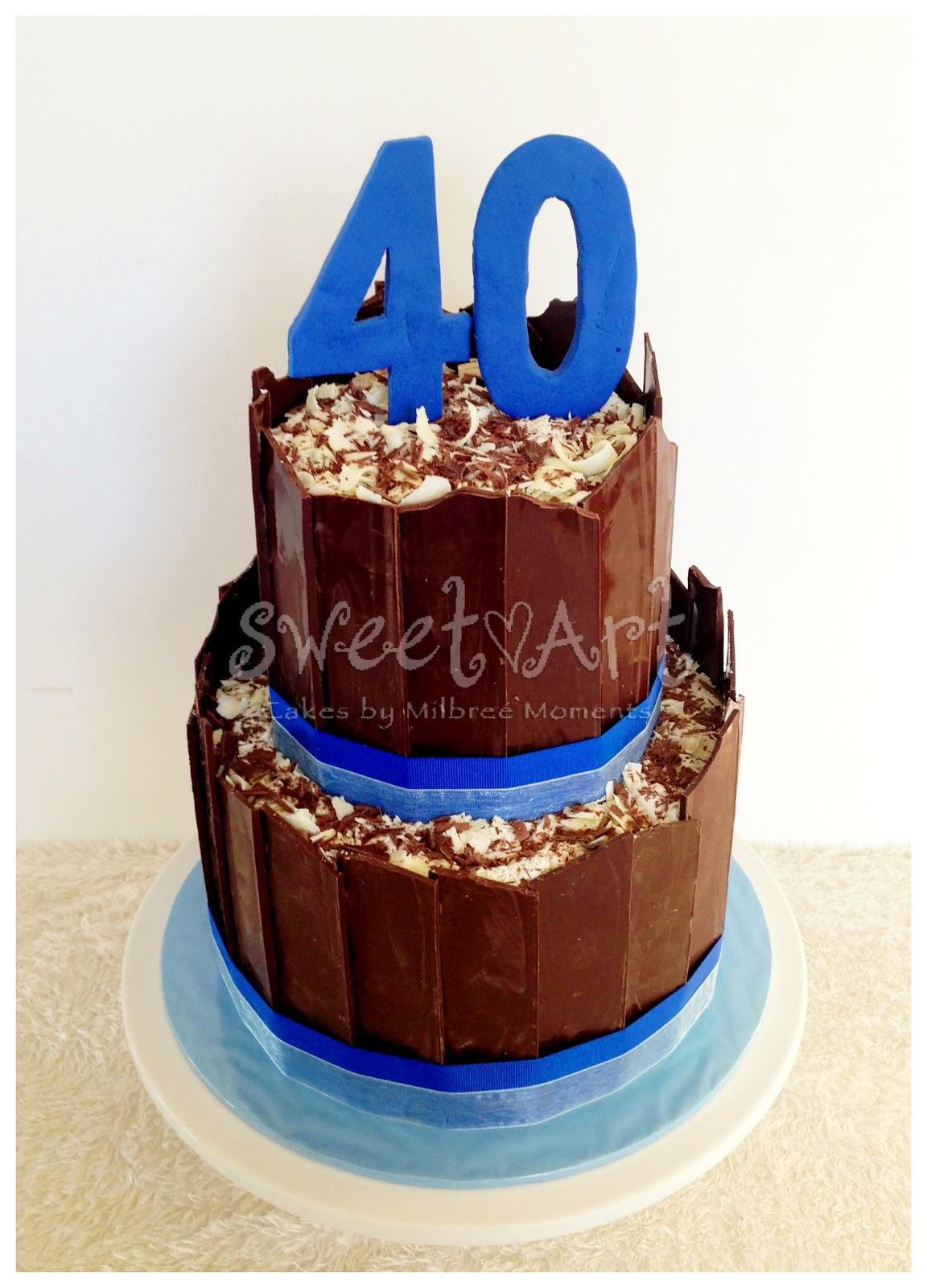 Chris 40th Birthday Chocolate Cake