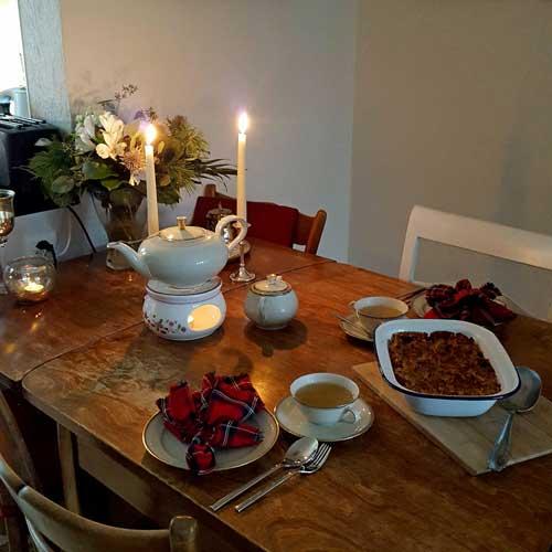 wildes poulet apple crumble zum 1 advent. Black Bedroom Furniture Sets. Home Design Ideas