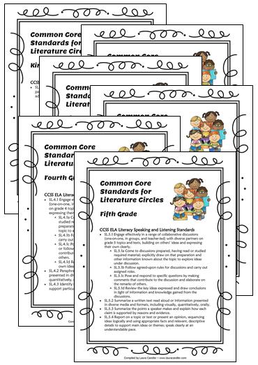 Corkboard Connections Literature Circles Common Core