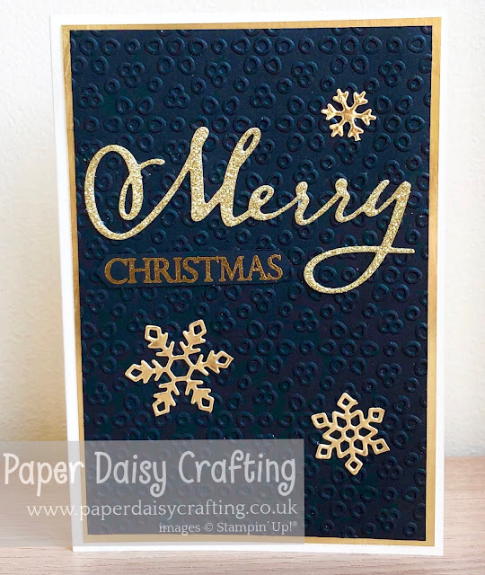 Merry Christmas dies Stampin Up Paper Daisy Crafting