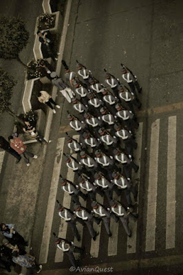 PMA Cadets Session Road Marching Squad Formations Vantage Shot