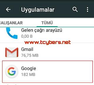 Google arama çubuğu kaldırma