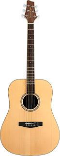 Bán Cây Đàn Guitar Acoustic Stagg NA30 Màu Gỗ Sang Trọng