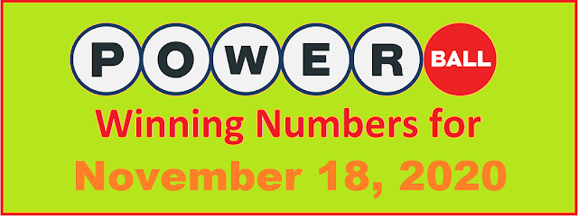 PowerBall Winning Numbers for Wednesday, November 18, 2020