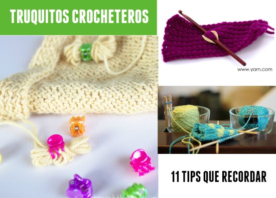 trucos tejedoras, tips crochet,