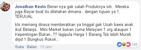 Curhatannya Soal Minta Minimarket Singkirkan Jajanan ini, Netizen Malah Ngatai Lebay dan Bapak Tak Baik