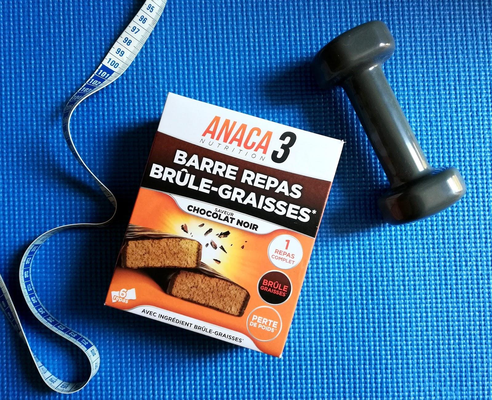 6 jours avec les barres repas brûle-graisses d'ANACA3 (code promo)