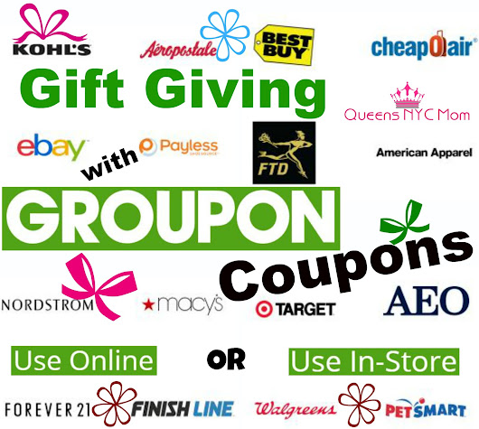 Gift Giving with Groupon Coupons #ad ~ QueensNYCMom