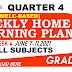 Week 4 Grade 10 Weekly Home Learning Plan Q4