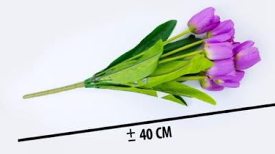 Bunga Plastik / Bunga Artificial Tulip (Seri 9K)