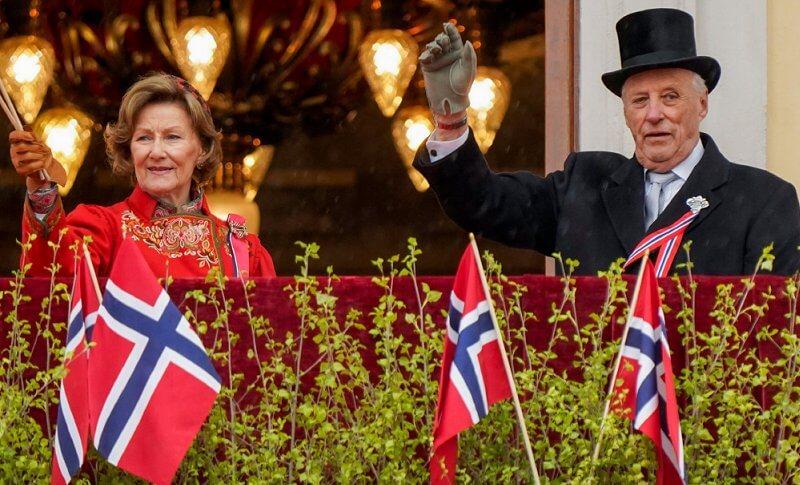 Queen Sonja, Crown Princess Mette-Marit, Crown Prince Haakon, Prince Sverre Magnus and Princess Ingrid Alexandra