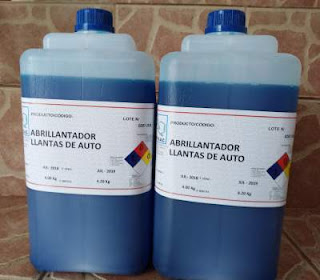 Blue Polish Abrillantador de llantas productos de limpíeza