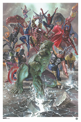 Marvel Legacy #1 Variant Cover Fine Art Prints by Alex Ross x Grey Matter Art x Marvel Comics