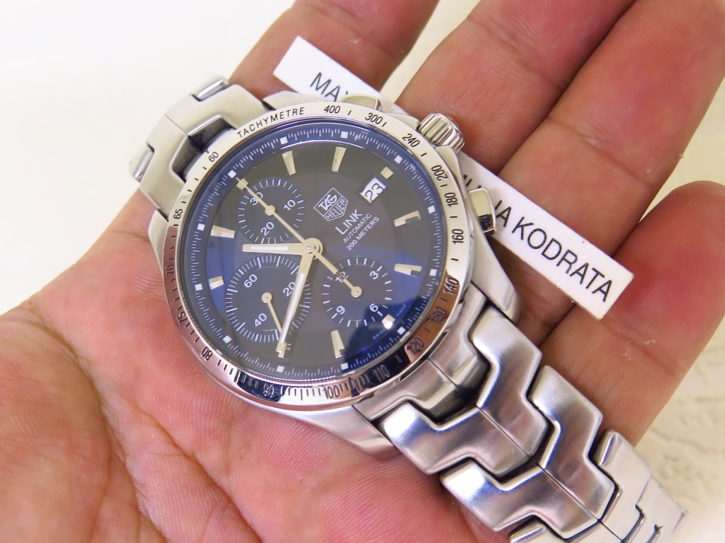 TAG HEUER LINK BLUE DIAL - CHRONOGRAPH - AUTOMATIC (FOR SALE)