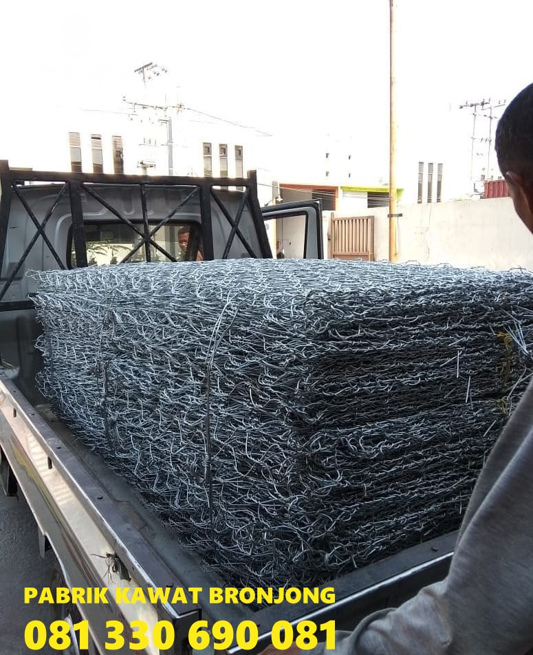 Jual Bronjong Kawat Gresik,bronjong kawat pabrikasi manual jual harga murah pabrik
