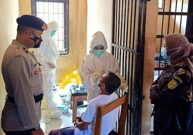 13 Tahanan Titipan Kejaksaan di Polres Lamandau Dilakukan Rapid Test