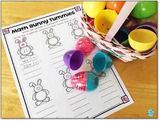 use plastic easter eggs to practice addition