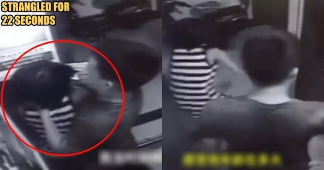 Gadis Ini Diserang Pria Tak Dikenal Saat Berada Didalam Lift Apartemen, Dicekik Hingga 22 Detik