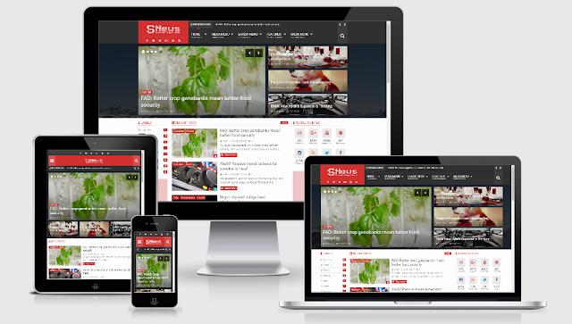 SNews 1.6 – News/Magazine Responsive Blogger Theme Premium Free Download