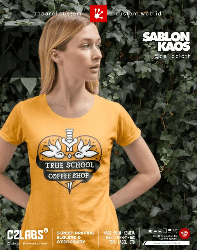 Contoh Gambar Sablon Kaos Custom Satuan dan Lusinan Terdekat Jogja